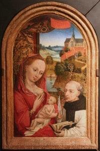 Lactation de saint Bernard, école flamande, autour de 1480. Wikimedia Commons.