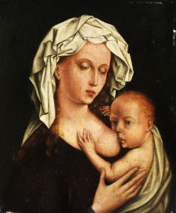 Maria lactans (auteur inconnu, école d'Antwerp), autour du 17e siècle. Wikimedia Commons.