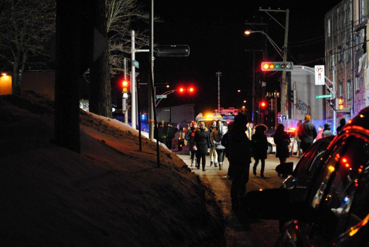 Vigile du 30 janvier 2017 en soutien à la communauté musulmane de Québec (photo: James Langlois).