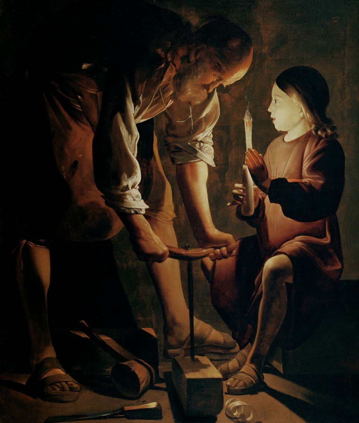 Georges de La Tour, saint Joseph charpentier, autour de 1645 (Wikimedia - CC)