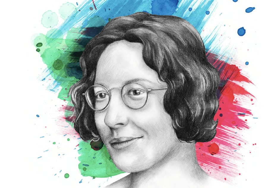 Simone Weil. Illustration: Marie-Hélène Bochud / Le Verbe.