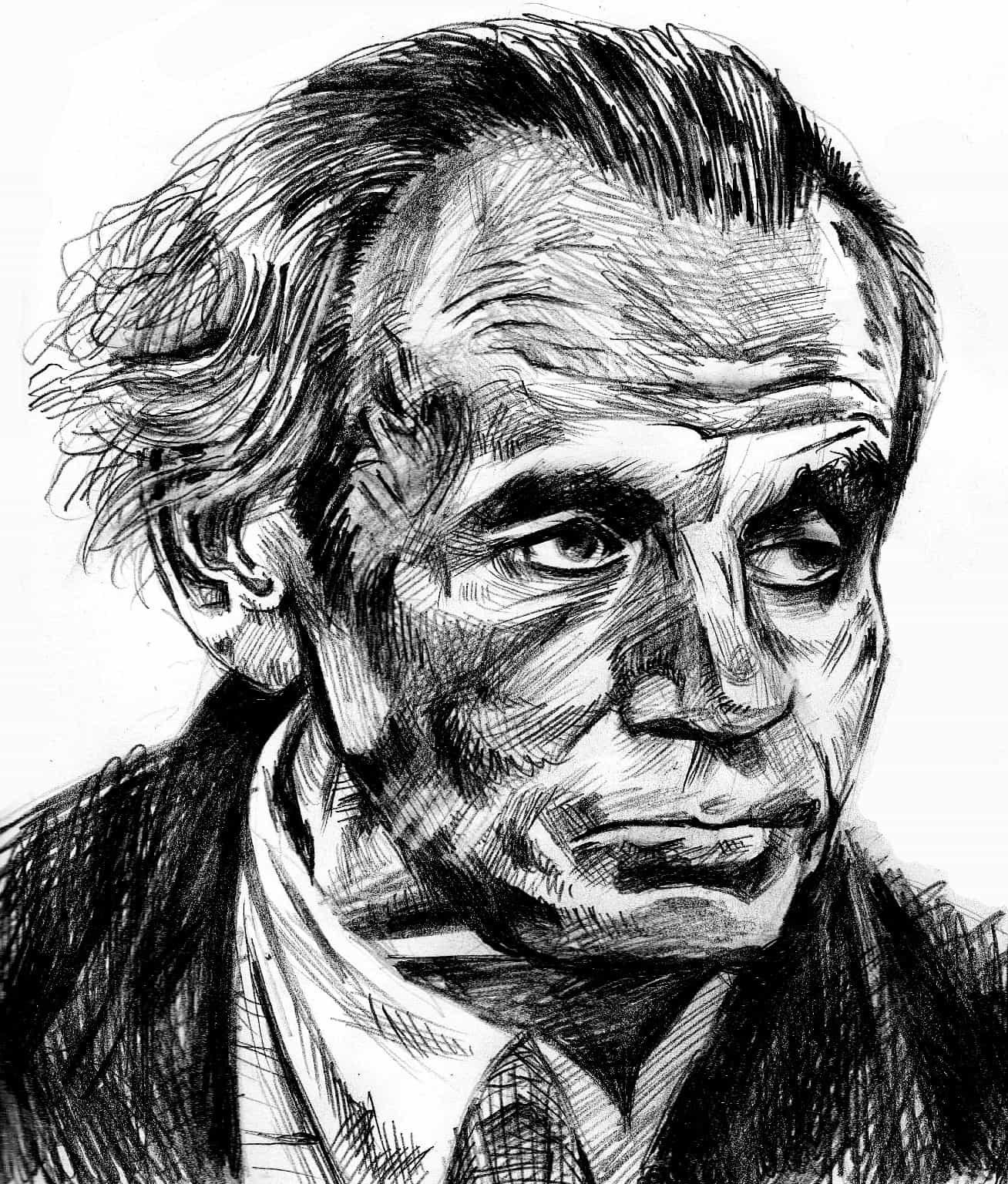 Louis-Ferdinand Céline (illustration de Gio / Wikimedia Commons).