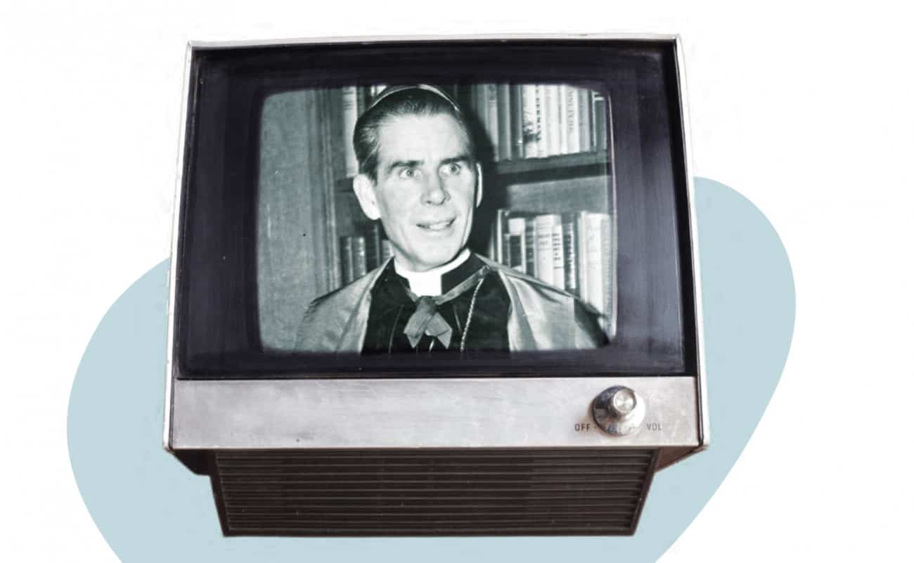 Mgr Fulton Sheen (montage: Léa Robitaille / Le Verbe).